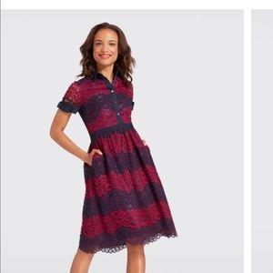 Draper James Ivy Lace Raspberry Dress